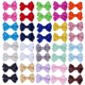 ICObuty 20 Pair 2 inch Hair Bows for Girls Baby Toddlers Hair Clips Barrette