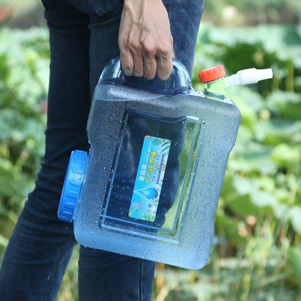 Voiture Portable R/éservoir deau R/éutilisable sans BPA Plastique Seau De Stockage deau pour Camping en Plein Air 5L Chirsemey Bouteille deau Conteneur Cruche Gallon 8L