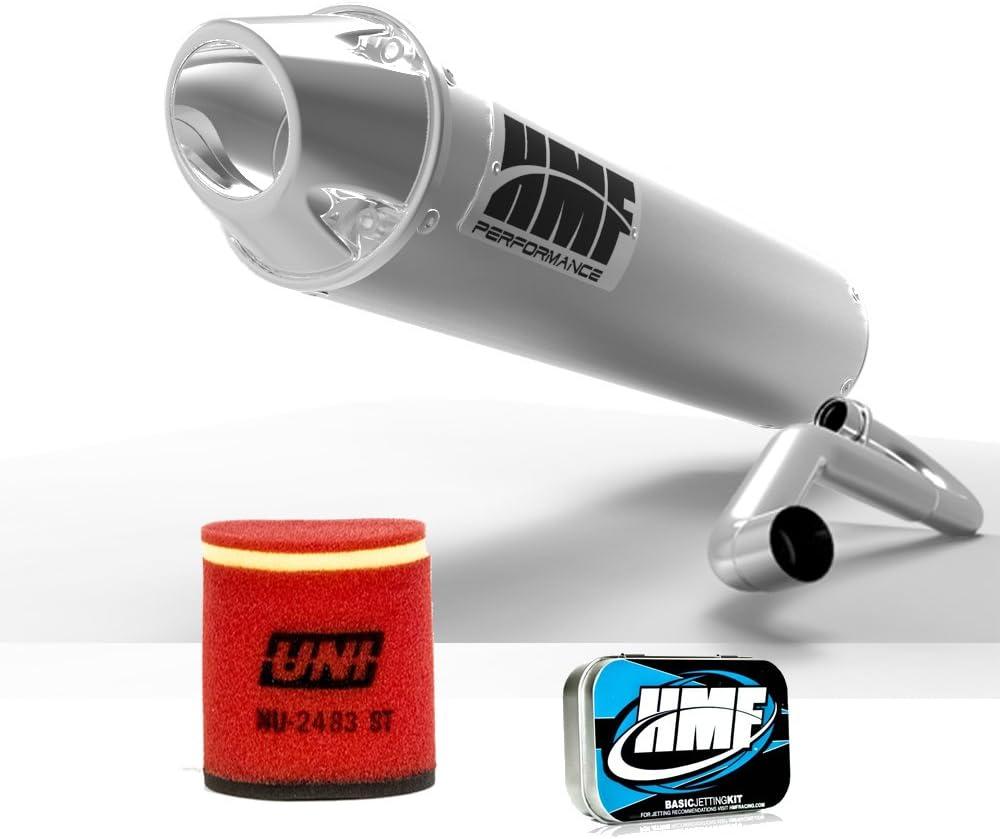 UNI HMF Suzuki LTZ 400 2003-2008 Brushed//Polished Slip On Exhaust Muffler JET