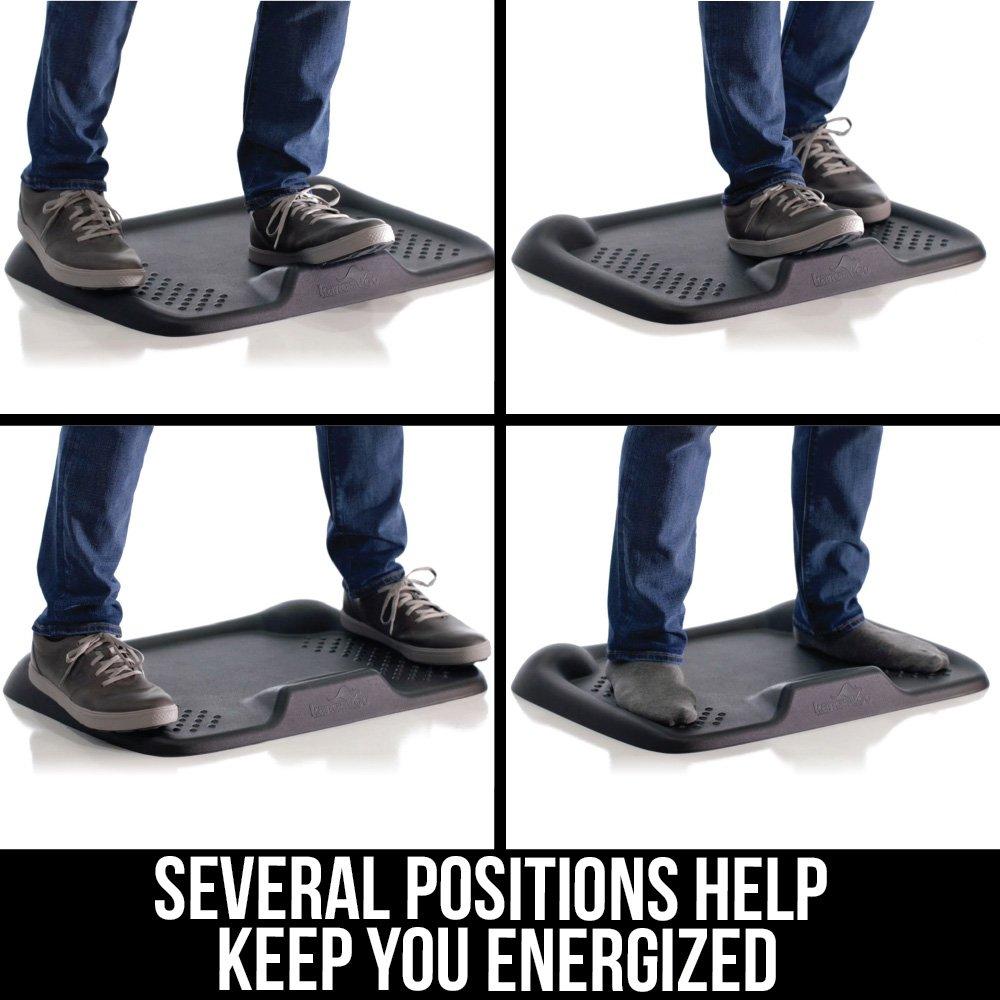 Kangaroo Brands Original Premium Anti-Fatigue Comfort Standing Mat, Not-Flat Ergonomically Engineered Floor Pad, Perfect Active Mats for Kitchen or Office Stand Up Desk, Non-Toxic, Waterproof (Black) by Kangaroo Brands (Image #3)