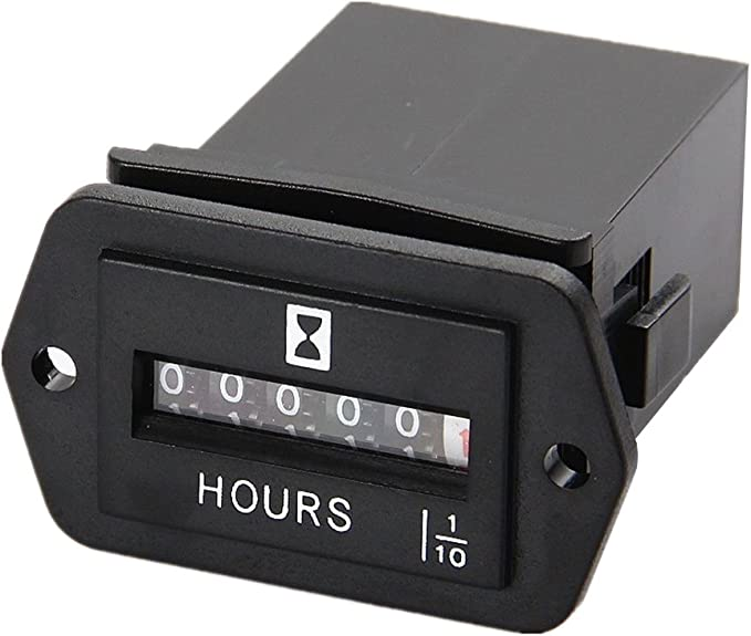 AC 10-80V Quartz Compteur horaire avec fil pour Voiture Bateau Jauge DC