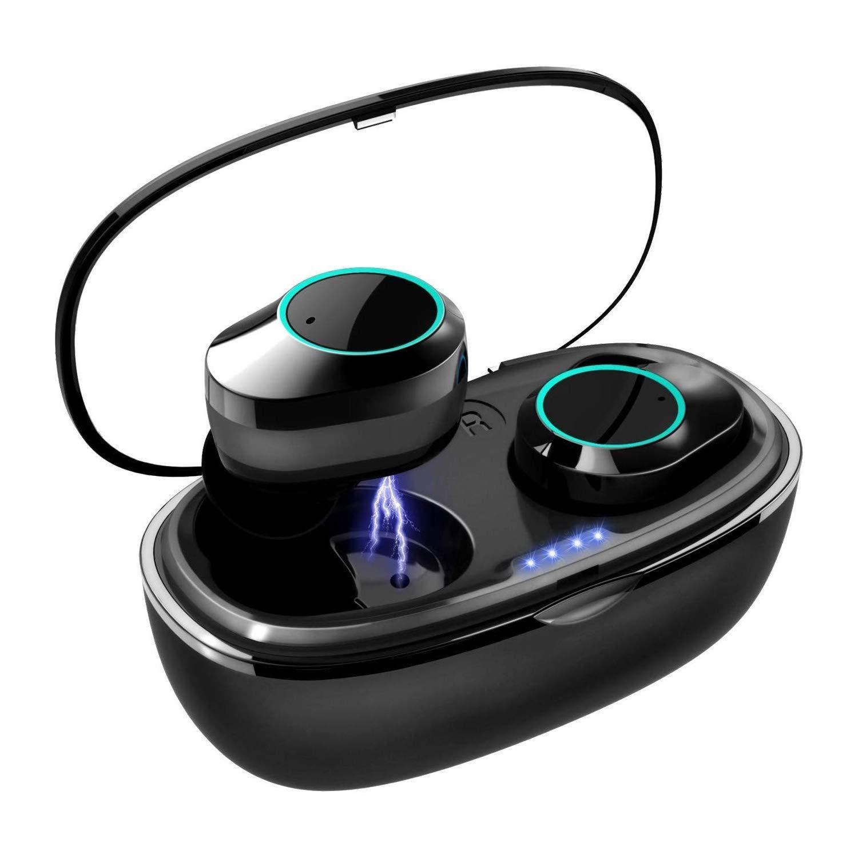 Wireless Earbuds, COOCHEER True Wireless Bluetooth 5.0 Headphones with Intelligent Display, Touch Screen One Key Control Auto Pairing Headphones, IPX68 Waterproof