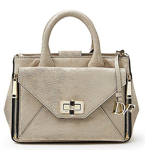 Diane Von Furstenberg Gold Lizard Embossed Leather Secret Agent Crossbody (Gold Embossed Handbag)