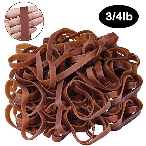 Supla 50 Pcs Big Rubber Bands Natural Rubber Bands Large Size Thick Elastic Rubber Bands - 7.9