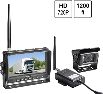 "Wireless 7/""HD Monitor Rear//Side View System+Backup Camera*2 Truck Trailer RV Bus"