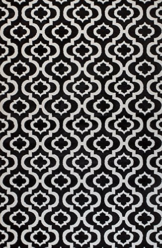 Summit BL-H7W0-236O 25 New Black White Trellis Lattice Modern Abstract Rug Many Aprx Sizes Available , 2' X7' ACTUAL 22'' X 83'' HALLWAY RUNNER