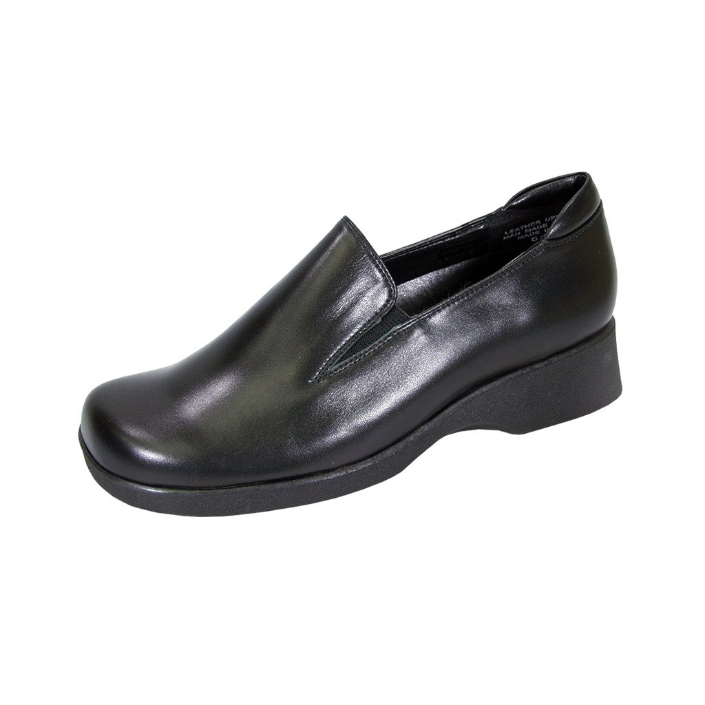 24 Hour Comfort  Bristol (1878) Women Extra Wide Width Leather Shoes Black 10.5
