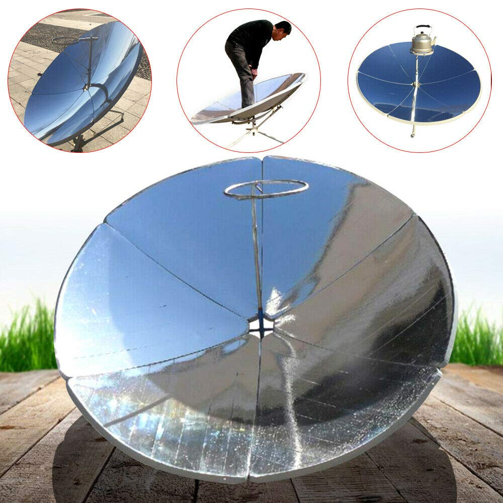 Gdrasuya 1800W 1.5m Diameter Portable Solar Cooker Sun Oven Camping Outdoor Barbeque High Efficiency USA Stock