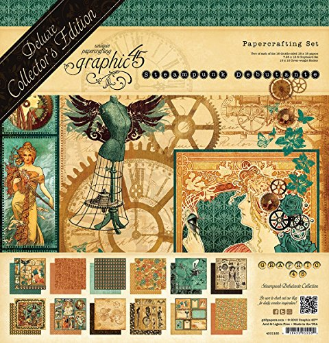 Graphic 45 Steampunk Debutante-Deluxe Collector's - Edition Graphics Green