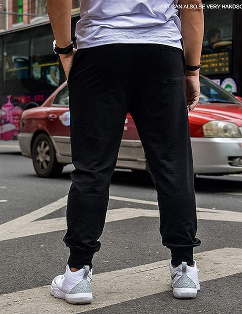 IDEALSANXUN Men/'s Casual Elastic Waist Closed Bottom Jersey Sweatpants