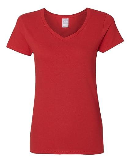 ccf5db8f16c Gildan Heavy Cotton Ladies  V-Neck T-Shirt