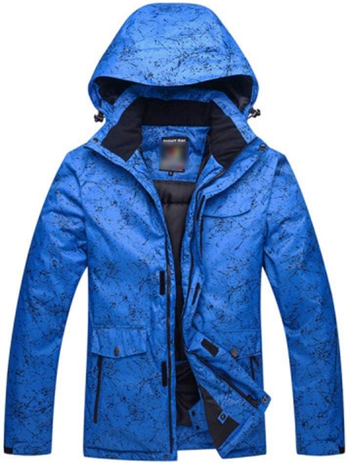 スキーウェア スキースーツ男性と女性のカップルモデル冬の屋外ベニアダブルボードスキー服防水ウォーム 耐性ジャケット (色 : 濃紺, サイズ : XXXL) 濃紺 XXXL