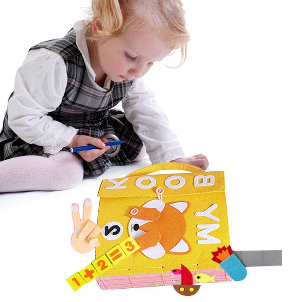 Kinder Fr/ühes Lernen P/ädagogische Spielbuch FAVOURALL tuchbuch baby Stoffbuch