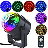 Led Party Ball Lights 1W 3 RGB LED Sound Activated Rotating Crystal DJ Disco Lights Stage Lights with Remote Control for Party, KTV, Wedding, Bar and Celebration