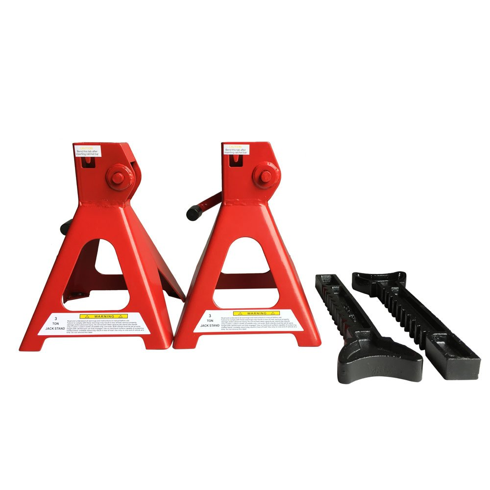 3 Ton Jack Stands High Lift Set Car Auto Shop Axle Hoist Lift Portable, 1 Pair