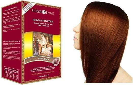 Surya Brasil Henna - Polvo de fresno, 50 g, color marrón