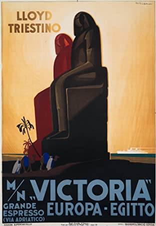 Victoria - Lloyd Triestino Vintage Poster (artist: Riccobaldi) Italy c. 1931 (