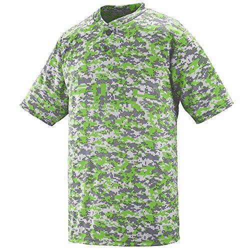 Augusta Sportswear Mens DIGI CAMO Wicking Two-Button Jersey