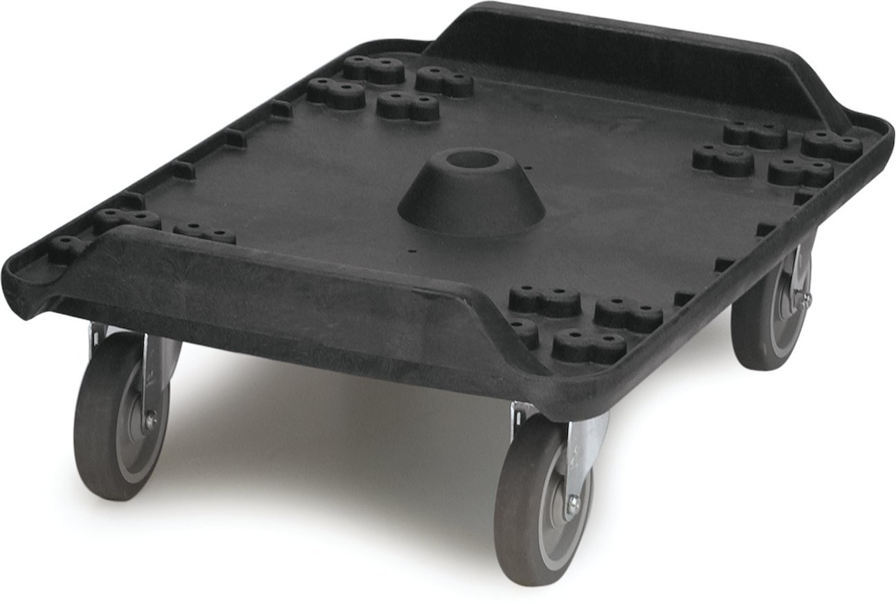 Carlisle MY41003 Cateraide Polyethylene Dolly with Standard Casters, For End Loader, 19-1/2'' Width x 26-3/4'' Height x 26-1/2'' Depth, Black