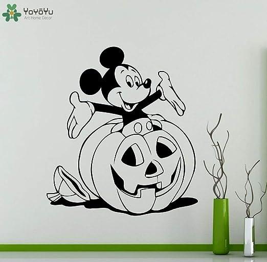 fancjj Halloween Mickey Mouse Tatuajes de Pared de Dibujos ...