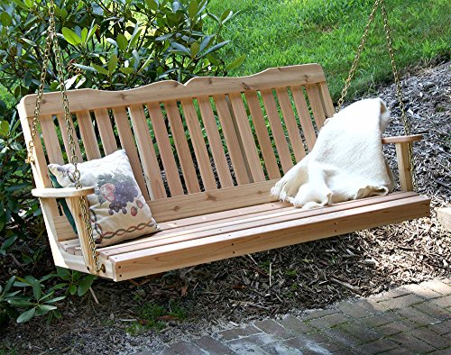 Creekvine Designs Cedar Countryside Porch Swing 6Ft