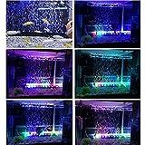 Amzdeal Waterproof Aquarium Led Light RGB16 Color 24 Led Light Aquarium Strip LED Light Colorful With Remote RC Control Fish Tank (24 inch)