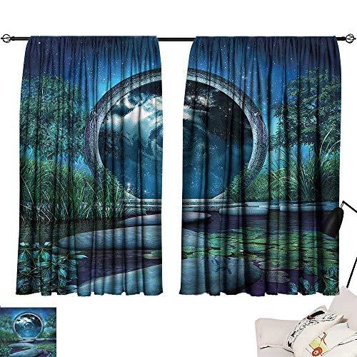 SINXY&CASE Shades Window Treatment Valances Curtains Fantasy,Fairytale Landscape Magic 84