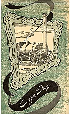 Hotel Sherman Coffee Shop Menu Chicago Illinois 1941 Old Train / Tractor Cover