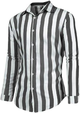 dahuo - Camisa de Manga Larga con Botones para Hombre, diseño ...