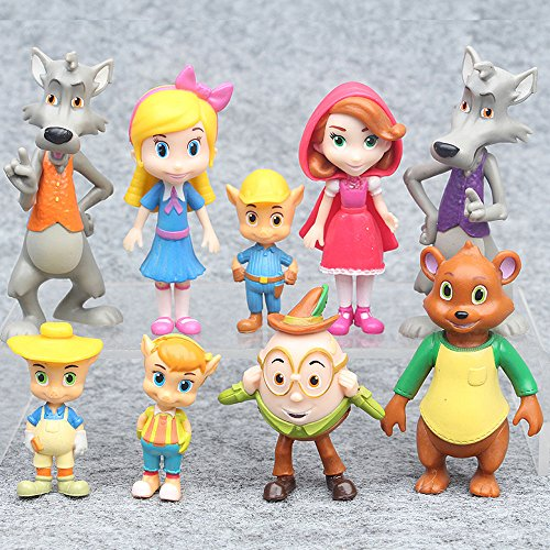 gg Goldie and Bear Fairytale Friends 9 PCS Figure Toys Gift Cake Toppers