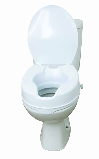 Drive DeVilbiss Healthcare 6 Raised Toilet Seat with Lid Amazon