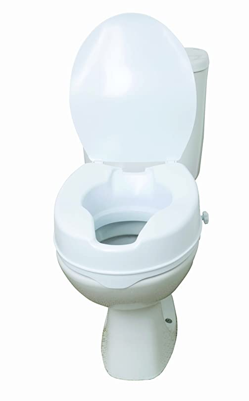 uk toilet seat sizes. Drive DeVilbiss Healthcare 6 quot  Raised Toilet Seat with Lid Amazon