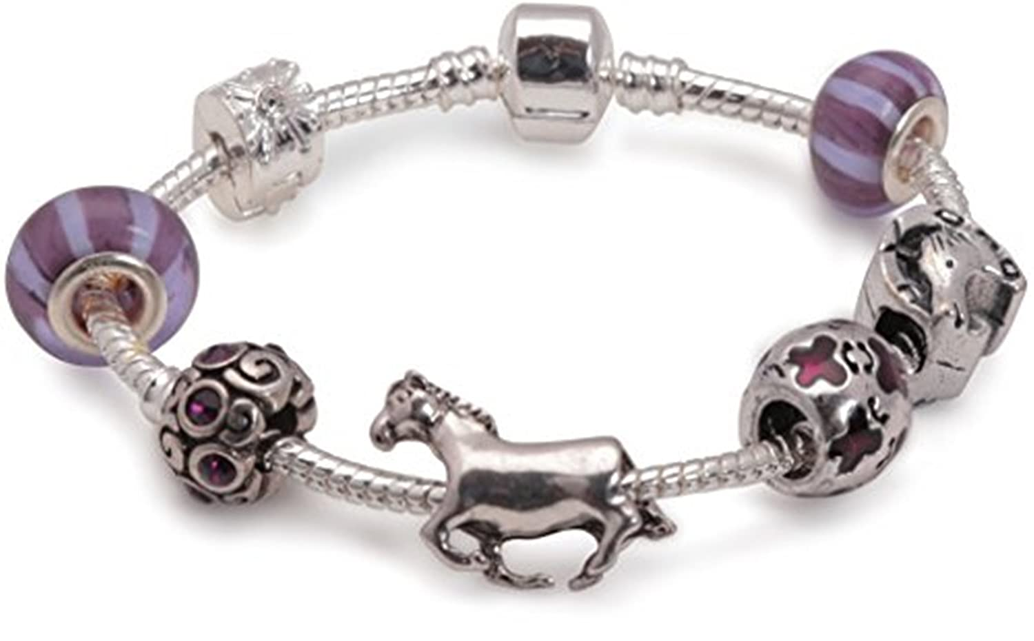 Liberty Charms Childrens Horse Lovers Dream Silver Plated Charm Bracelet. Girls Gift Stocking Filler Liberty Trading GB Ltd BC35-15cm
