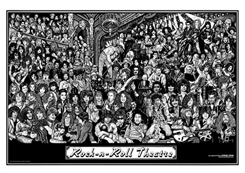 - Rock & Roll Theatre Poster Poster Print, 36x24