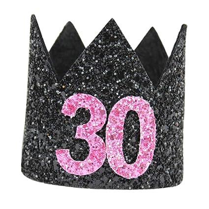 FLAMEER Sombreros de Cono de Fiesta de Cumpleaños con Diseño ...