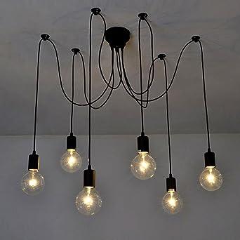 Inhdbox E27 Kronleuchter Pendelleuchten Deckenlampe Hangelampe