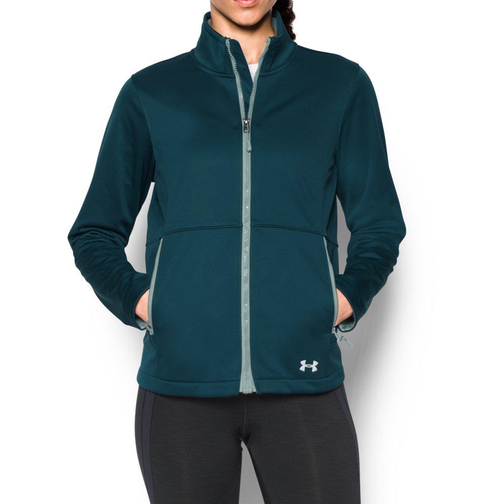 Under Armour Women's ColdGear Infrared Softershell Jacket, Nova Teal/Opal Green, Medium