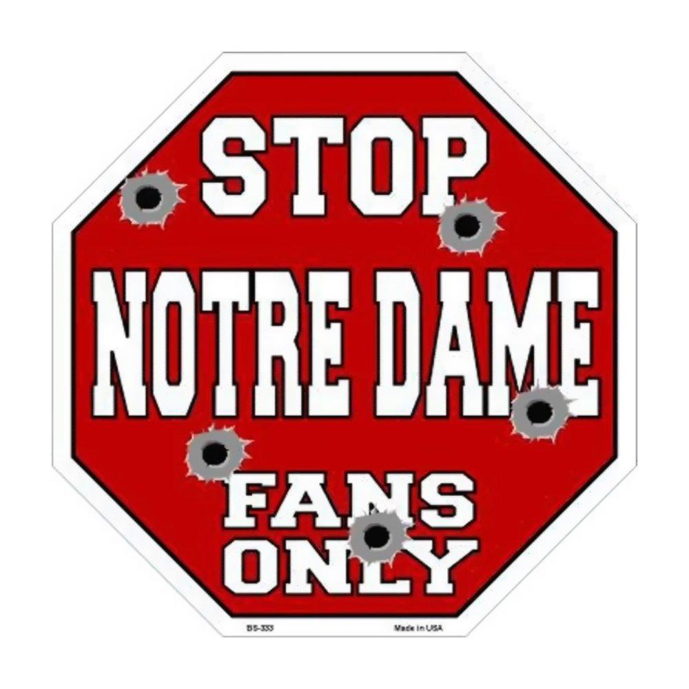 スマートブロンドNotre DameファンのみメタルノベルティOctagon Stop Sign bs-333 B01BSYKQJQ 24293