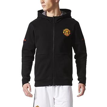 adidas Manchester United FC H Anthem Squad Jacket [BLACK] (XS)