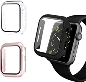 ZTTXL 3 Pack Apple Watch case with Screen Protector for Apple Watch 40mm Series 5/4, Full Hard Cover Ultra-Thin Bumper HD Clear Protective Film Scratch Resistant for Women Men iWatch