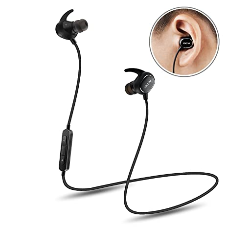 Bluetooth Headsets, QCY QY19 Wireless Sport Headphones Ultra Lightweight Bluetooth 4.1 CVC 6.0 Noise Cancelling