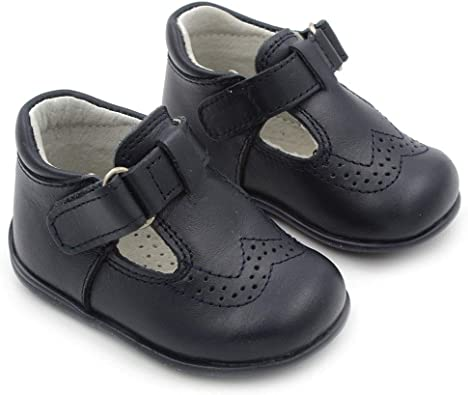 Maiorista Baby Shoes Navy Blue Leather