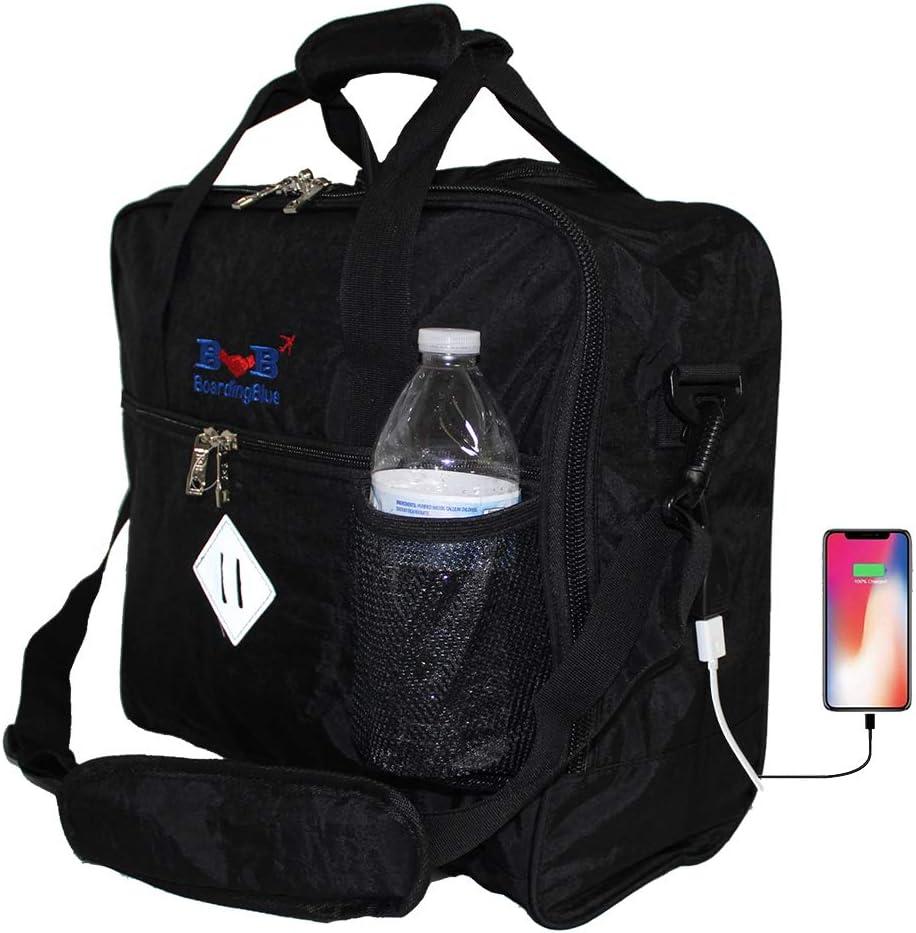Amazon Com 16 Personal Item Under Seat Duffel Bag For Allegiant Air W Usb Port Black Carry Ons