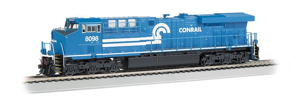 Bachmann GE ES44AC DCC Sound Value Equipped Diesel Locomotive - CONRAIL #8098 (with operating ditch lights)  - HO Scale
