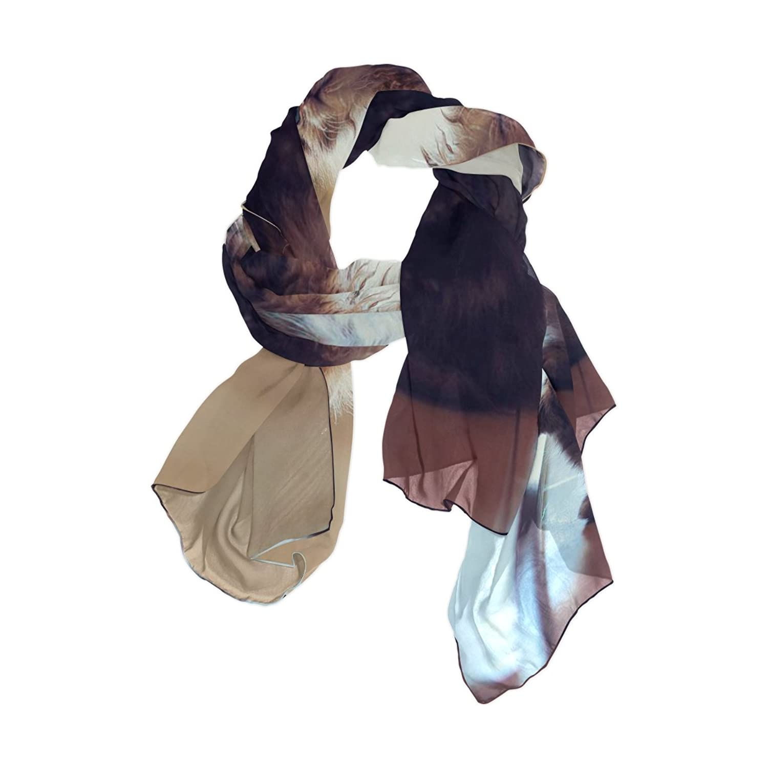 Ablink Piano Cat Sheer Chiffon Scarf Various Style Accessory 70.86x35.4(inch)