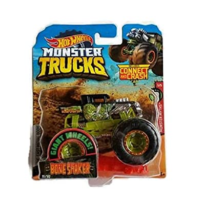 Hot Wheels Monster Trucks #31/50 Bone Shaker with Connect and Crash Car: Toys & Games [5Bkhe0401600]