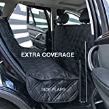 Cheap Sunnyside Luxury Non-Slip Pet Seat Cover, Dog Car Seat Cover for Cars, Uber, Trucks, and SUV's – Black, Water Repellent, Seat Anchors