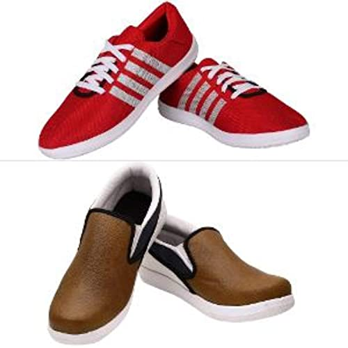 34f2debd0 CALASO Men s Mesh Casual Shoes - Set of 2  Buy Online at Low Prices in  India - Amazon.in