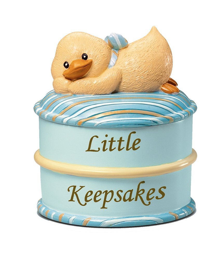Russ Berrie Keepsake Box, Blue Discontinued by Manufacturer