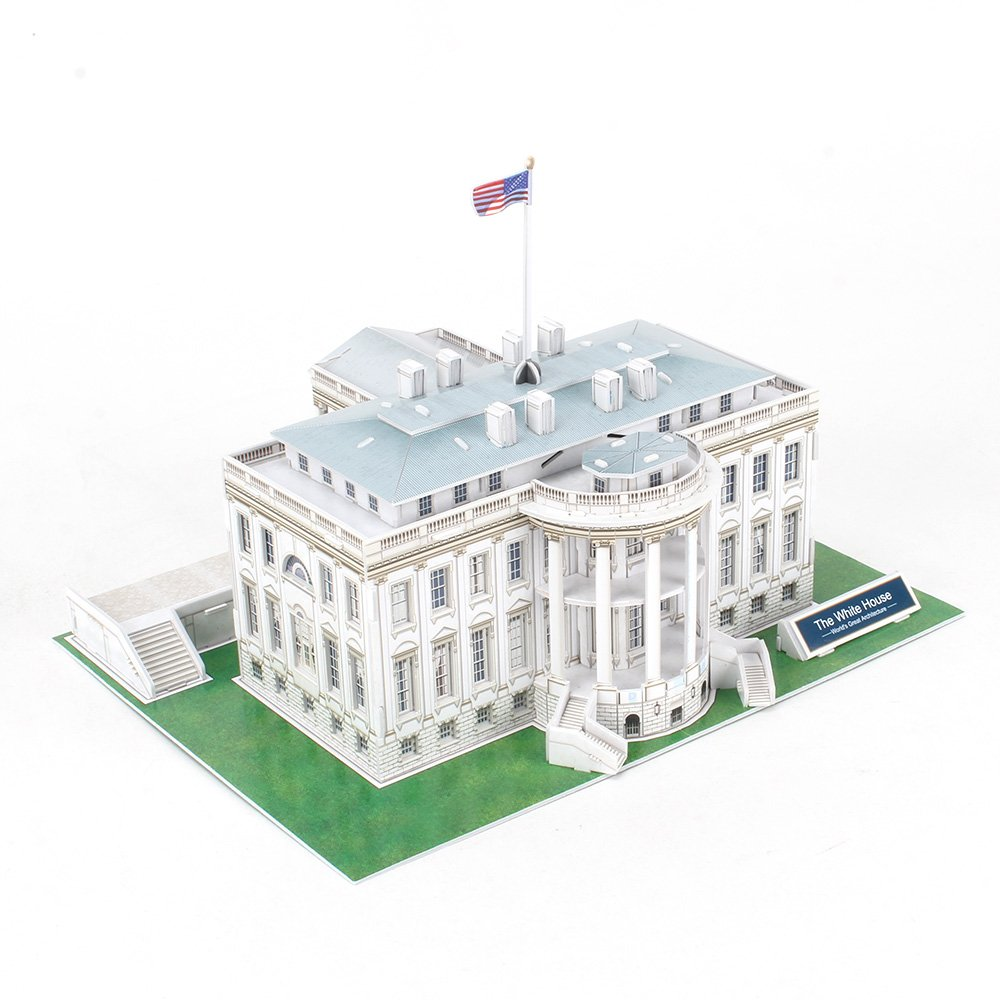 CubicFun C060h US The White House (Washington) World's Great Architectures 3D Puzzle, 65 Pieces